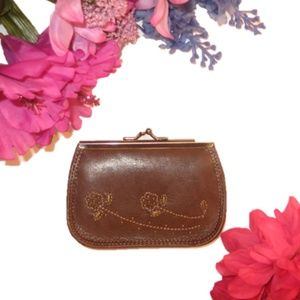 Handbags - Embroidered Leather Wallet